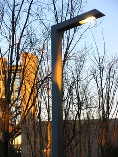 108 is a simple, functional street lamp created around an angle with a continuous rectangular-section shaft, designed to be useful without standing out.