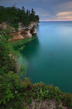 Pictured rocks,Lake Superior, Michigan