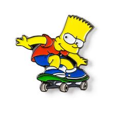 BART SIMPSON Enamel Lapel Pin 8.95$ Perfect Accessory for Jackets, Hats, and Bags!
