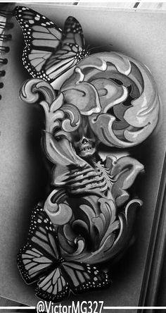 Body Art Tattoos, Hand Tattoos, Cool Tattoos, David Tattoo, Tattoo Ideas, Tattoo Designs, Doodle Doo, Chicano Art, Skull And Bones
