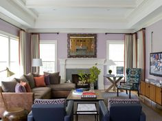 what a fun color combo!!  Do I change living room treatments with dining room treatments?