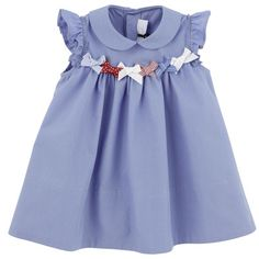 TARTINE ET CHOCOLAT Sky blue poplin dress