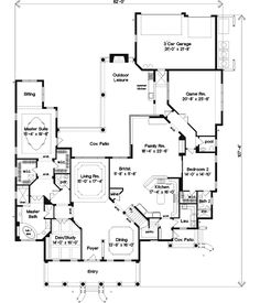 Luxury Style House Plans - 5876 Square Foot Home , 2 Story, 5 Bedroom and 5 Bath, 3 Garage Stalls by Monster House Plans - Plan 28-141
