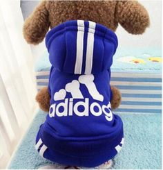 Idepet(TM) Adidog Pet Dog Cat Clothes 4 Legs Cotton Puppy Hoodies Coat Sweater Costumes Dog Jacket >>> Find out more about the great product at the image link.