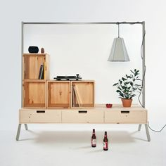99.  I love the simplicity of this and I think I can get it made for under the $13,000 price on the site.  Not sure if the wood crates are included for that:)