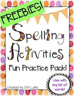 Spelling centers are such a fun way to incorporate spelling activities that reinforce the weekly vocabulary and spelling words that students are learning! I must admit, spelling was not always a hi… Spelling Word Activities, Spelling Word Practice, Spelling Centers, First Grade Spelling, Sight Word Spelling, Spelling Homework, Spelling Lists, Word Work Activities, Spelling Ideas