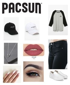 """""""Pacsun"""" by emmaraej on Polyvore featuring PacSun, Young & Reckless, NIKE, LA: Hearts, Bullhead Denim Co. and Smashbox"""