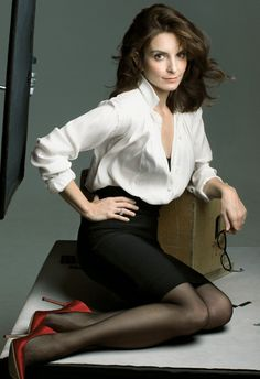 Tina Fey is SO beautiful! Her character on 30 Rock is SO me when I'm in my 30s. She is definitely my hero.