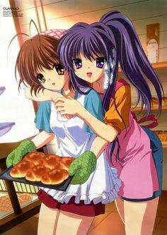 Nagisa and Kyou _Clannad Dango Clannad, Clannad Anime, All Anime, Me Me Me Anime, Anime Manga, Anime Girls, Anime Stuff, Clannad After Story, Anime School Girl