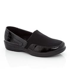 Loving this Black Contrast Pat Rock Clog on Comfy Walking Shoes, Clogs, Heather Grey, Contrast, Infant, Loafers, Slip On, Rock, Tees