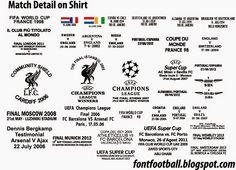 FONT FOOTBALL: Match Details MDT on shirt by Vector