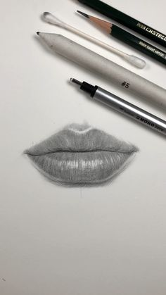 drawings Drawing lips by Nadia Coolrista Art Drawings Sketches Simple, Dark Art Drawings, Pencil Art Drawings, Realistic Drawings, Drawing Faces, Pencil Sketching, Pencil Shading, Drawing Techniques, Drawing Tips