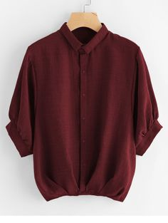 SheIn offers Lantern Sleeve Pleated Detail Shirt & more to fit your fashionable needs. Source by kitomeka - Dress Outfits, Cool Outfits, Casual Outfits, Teen Fashion Outfits, Fashion Dresses, Fashion Ideas, Lange T-shirts, Mode Jeans, Shirt Bluse
