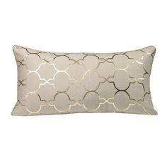 Westex Urban Loft Foil Tile Feather Fill Polyester Lumbar Pillow
