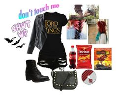"""""""Netflix"""" by thaisa-tcs ❤ liked on Polyvore featuring The Ragged Priest, Frye and Wet Seal"""