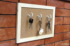 How to Make a Picture Frame Keyholder