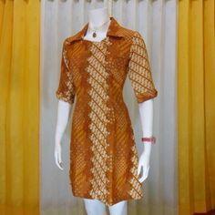 Setelah lama mencari desain model pakaian batik akhirnya menemukan salah satu model batik dress masakini yang dijual murah dari toko suplier segala.macam baju batik