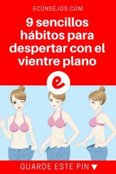 Vientre plano   9 sencillos hábitos para despertar con el vientre plano   Esto es lo que debe hacer.