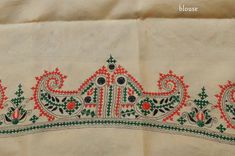 Hand Embroidery Videos, Hand Embroidery Designs, Kasuti Embroidery, Hand Work Design, Kutch Work Designs, Indian Dresses, Pj, Blouse Designs, Silk Sarees