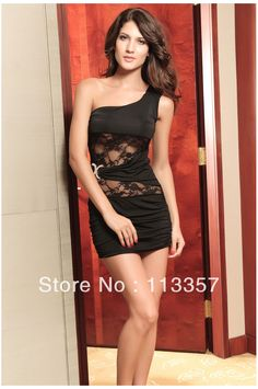 Sexy dresses fashion oblique double C buckle sleeveless lace dress sexy  slim hip fashion one - a1bec45864a1