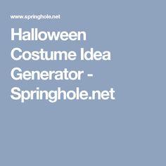 Random Halloween Costume Generator &