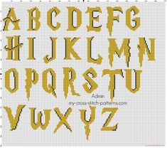 Thrilling Designing Your Own Cross Stitch Embroidery Patterns Ideas. Exhilarating Designing Your Own Cross Stitch Embroidery Patterns Ideas. Harry Potter Cross Stitch Pattern, Cross Stitch Alphabet Patterns, Cross Stitch Letters, Simple Cross Stitch, Cross Stitch Charts, Cross Stitch Designs, Stitch Patterns, Cross Stitch Numbers, Classe Harry Potter