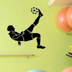 WALL DECAL VINYL STICKER GYM SPORT FOOTBALL PLAYER DECOR SB200