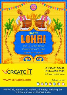 May the fire of Lohri burn all the negativity in your life and bring only warmth & love. VCreate IT wishes you a blessed and #HappyLohri http://www.vcreateit.com/