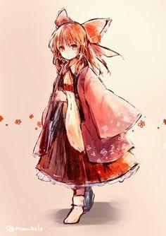 Touhou Anime Chibi, Anime Manga, Kawaii Anime, Touhou Anime, Character Inspiration, Character Design, Anime Kimono, Chibi Girl, Estilo Anime