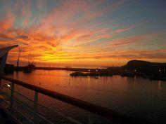 Sunset. Mexico cruise