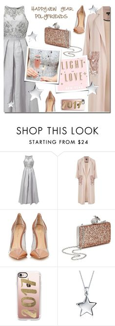"""""""A very Happy New Year to my friends"""" by anne-irene ❤ liked on Polyvore featuring Adrianna Papell, Topshop, Gianvito Rossi, GET LOST, Miss Selfridge, Casetify and Bling Jewelry"""