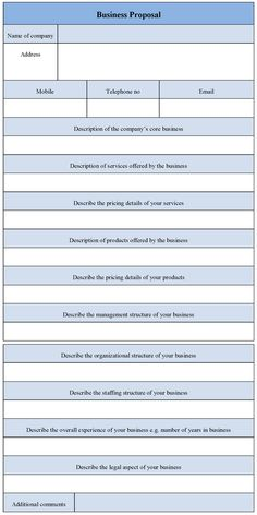 Small business proposal templates