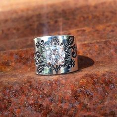 Handmade Sterling Silver Ring - Cowgirl Style, Western Flair, Custom Made Accessories by KreativeRustics Cowgirl Bling, Cowgirl Jewelry, Western Jewelry, Cowgirl Style, Tanzanite Engagement Ring, Platinum Engagement Rings, Western Rings, Silver Ring, Silver Jewelry