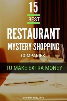 Here are the best restaurant mystery shopping companies that offers paid secret shopping jobs near you. Secret Shopper Jobs, Mystery Shopper, Planning Budget, Best Mysteries, Extra Money, Extra Cash, Frugal Living Tips, Money Management, Personal Finance