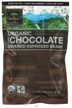 Kopali Organics - Organic Dark Chocolate Covered Espresso Beans - 2 oz $3.49