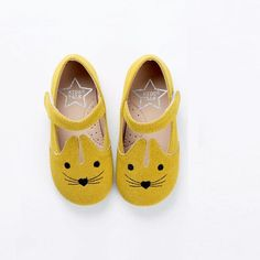 Kids Talk Bunny Suede Shoes (Yellow)