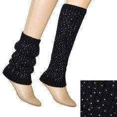 Fancy Sparkling Fashion Ribbed Knit Soft Acrylic Leg Warmer - Black Dahlia. $12.95. Save 61%!