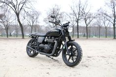 Triumph Bonneville Soft Black by Modification Motorcycles