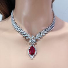 Ruby And Diamond Necklace, Ruby Necklace, Indian Necklace, Indian Jewelry, Ruby Jewelry, Filigree Jewelry, Diamond Jewelry, Expensive Jewelry, Necklace Designs