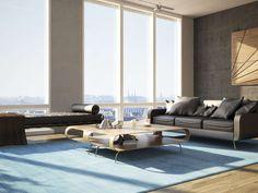 Handloom fringes - Lichtblauw 140x200 - CarpetVista