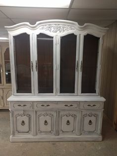 It Has Three Glass Shelves And Lighting. You Could. Shabby Chic Display  PiecesDisplay CabinetsGlass ...