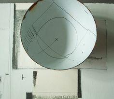 Sgraffito on enamel by Helen Carnac