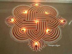 Rangoli Rangoli Patterns, Rangoli Kolam Designs, Rangoli Ideas, Mehandi Designs, Diwali Decorations, Flower Decorations, Latest Rangoli, Padi Kolam, Indian Rangoli
