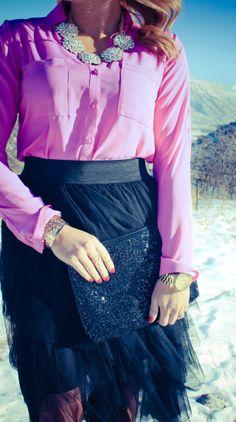 Tulle + Radiant Orchid #fashion #womensfashion