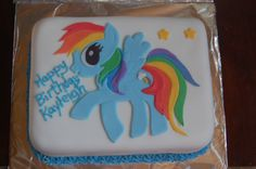 Rainbow Dash My Little Pony mini cake
