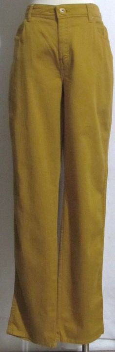 NEW Womens Ladies TRIBAL Harvest Gold Cotton Stretch Tapered Jeans 10 Orig $86…