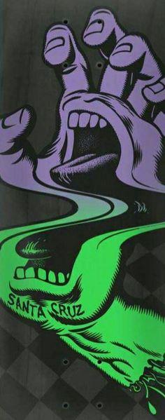 Santa Cruz Logo, Graffiti Styles, Hand Logo, Skateboards, Surfing, Skull, Concept, Sculpture, Iphone