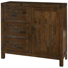 3-Drawer Reclaimed Wood Chest for Kitchen Island