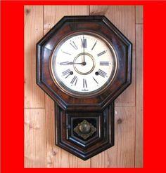 絵描きのサムライ 柱時計 実働保障 レトロ アンティーク124 Watch wall clock ¥13000yen 〆05月01日