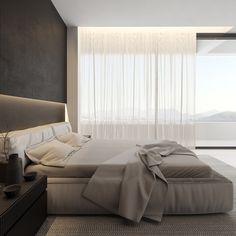 Igor Sirotov on Behance Modern Bedroom Design, Home Room Design, Dream Home Design, Home Interior Design, House Design, Dream House Interior, Luxury Homes Dream Houses, Luxury Interior, Neon Bedroom